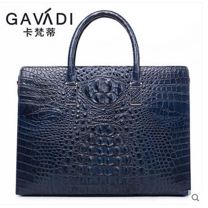 2018 kafandi crocodile man bag business men handbag fashion luxury men briefcase men bag