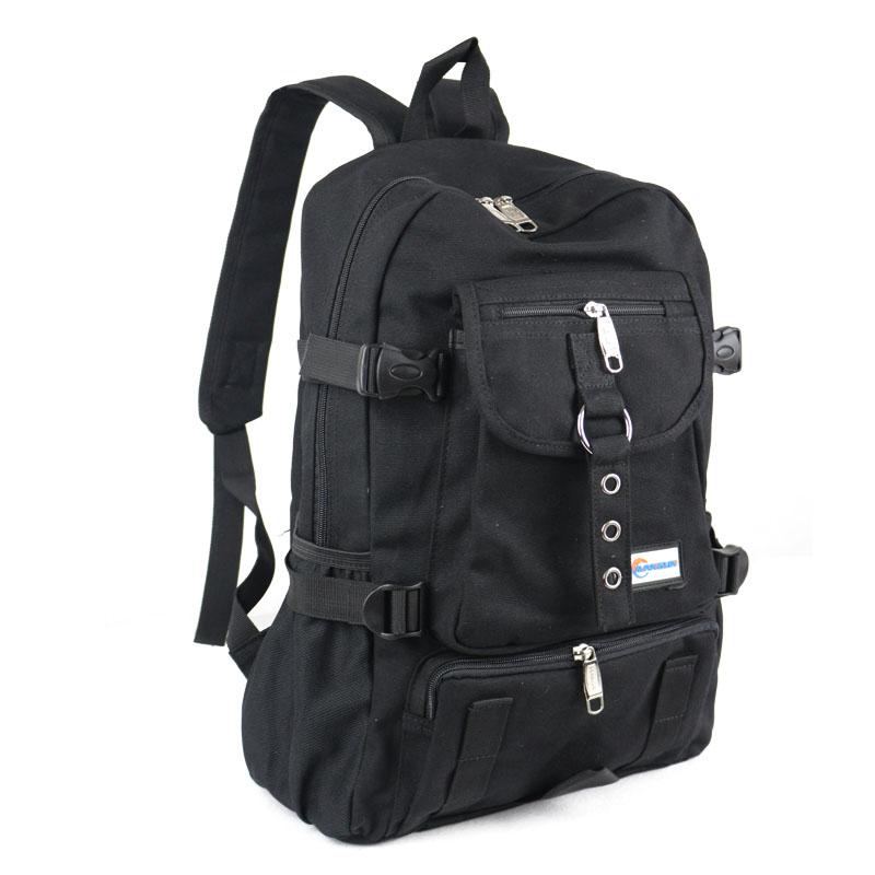 53bea25ed89b Details about strap zipper casual bag male backpack school bag canvas bag  designer backpacks