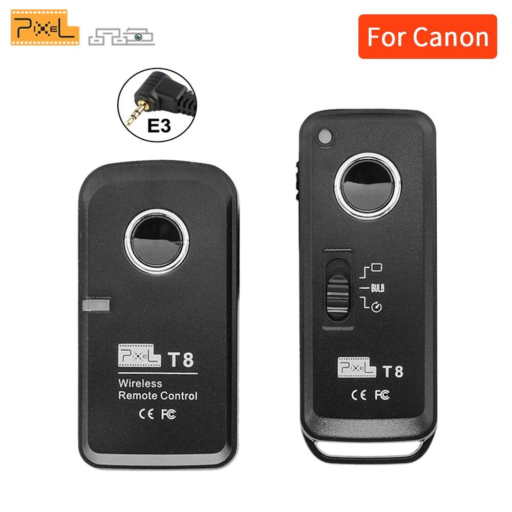 Pixel T8/E3 Беспроводной дистанционного спуска затвора Управление для Pentax samsung Canon 700D 1100D 1000D 650D 350D DSLR Камера VS TW-283