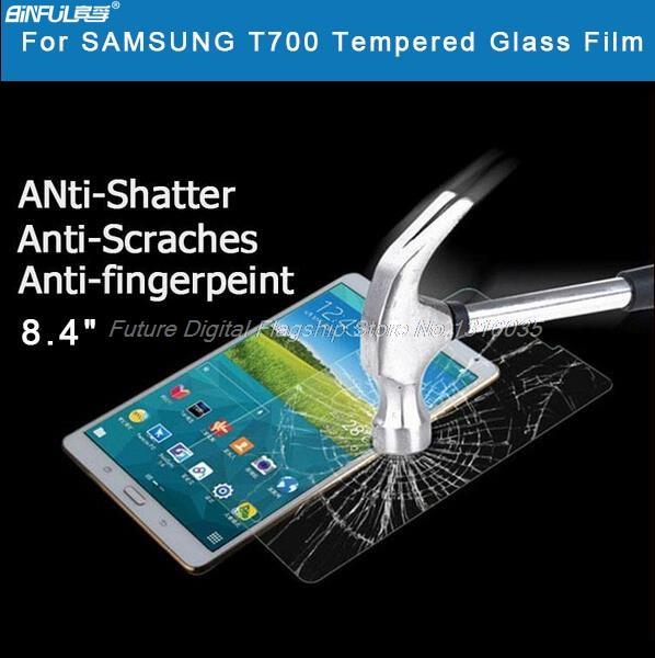 """BINFUL """"Premium"""" grūdinto stiklo plėvelė """"Samsung Galaxy Tab"""" S 8.4 T700 T705 T707 planšetiniam kompiuteriui."""