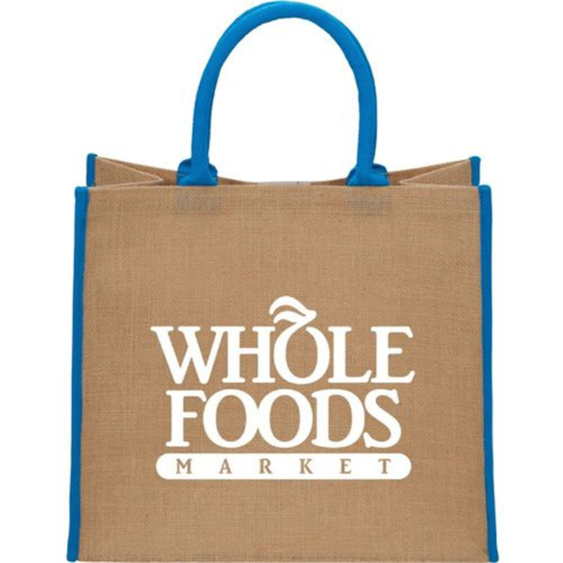 Whole 500pcs Lot Reusable Jute Ping Tote Bags With Logo Promotional High Quality Compeive Price As Ads In From