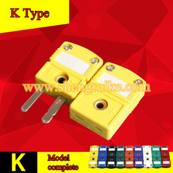 K Type mini thermocouple connector flat pin male and female