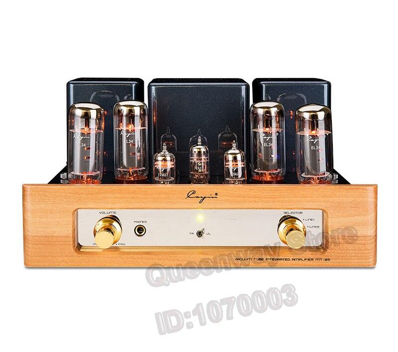Cayin-MT 35 EL34 * 4 Push-pull Amplificador de Potência Do Tubo De Vácuo Amplificador de Alta Potência de Vácuo Painel Sólido
