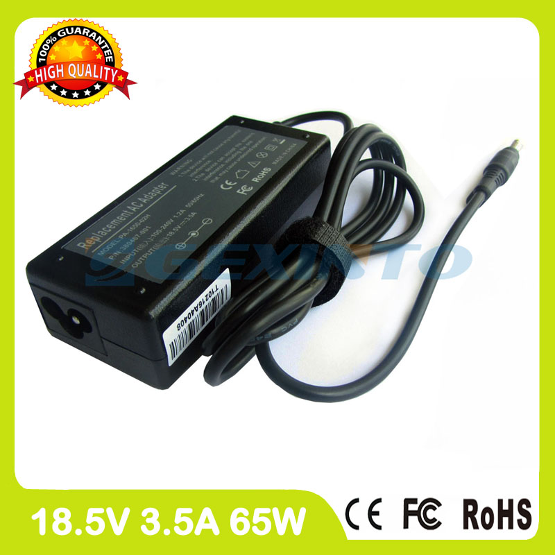 18.5V 3.5A 65W ac power adapter 371790-011 265602-291 265602-AA1 laptop charger for HP Pavilion tx2000 tx2100 <font><b>tx2500</b></font> tx2600 image