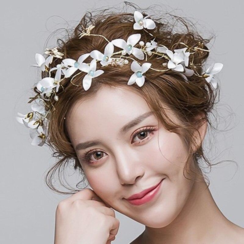 Beach Wedding Hairstyles: Aliexpress.com : Buy Leaves White Wreath Sweet Hairbands