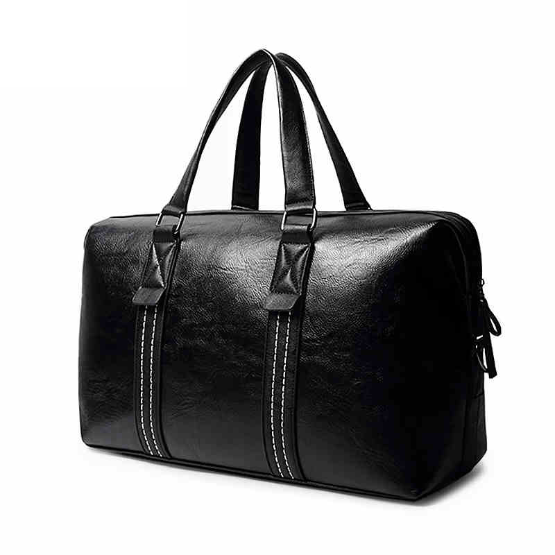 e5d9a72e62 VIDENG POLO Brand Men pu leather large Capacity Travel Bag Duffle crossbody  Short distance Messenger bag Black leisure Handbags-in Travel Bags from  Luggage ...