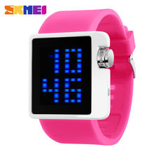Новинка 2019 брендовые модные светодиодные цифровые часы skmei