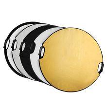 Selens 5 в 1 43 дюймов (110 см) круглый Отражатели с ручкой для фотографии Аксессуары для фотостудий Освещение и Наружное освещение
