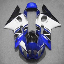 Injection Mold Fairing kit for YZFR6 98 99 00 01 02 YZF R6 1998 2000 2001 2002 blue black Fairings set(China)