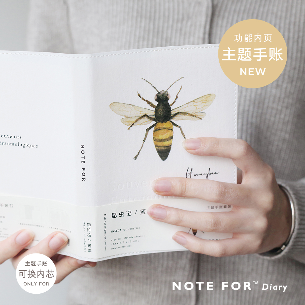 Planner 2018 Kawaii Beetles Bullet Journal Daily Planner Leather Travelers Notebook A6 School and Office Stationery kawaii office notebook planner travelers notebook stationery fashion school notebook planner diary bullet journal defter hjw094 page 7 page 4 page 6