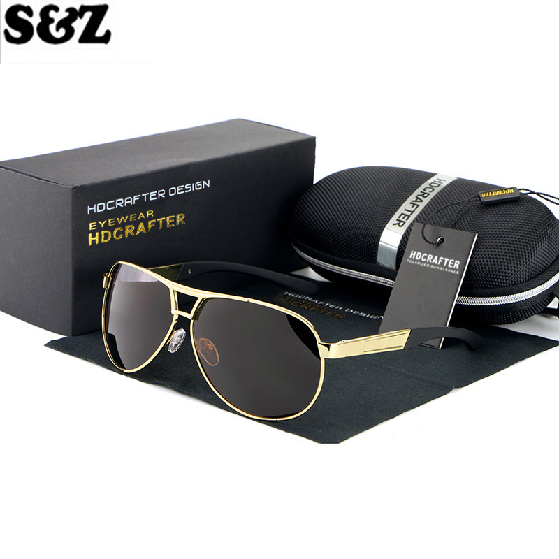 Summer Fashion Oval Sunglasses Man Polarized Sun Glasses Aluminum Alloy Frame Men Driving Glasses Polarizing Mirror