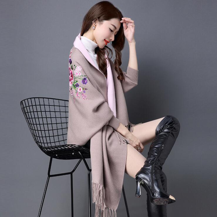 Женские свитера для зимы, Женская куртка с длинным рукавом, тонкая куртка, Длинные Топы - Цвет: Хаки