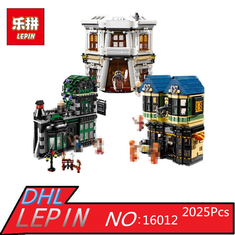 Magic Word Diagon Alley Model LEPIN 16012 2025Pcs Educational Building Blocks Bricks Compatible Children Toys Gift dayan gem vi cube speed puzzle magic cubes educational game toys gift for children kids grownups