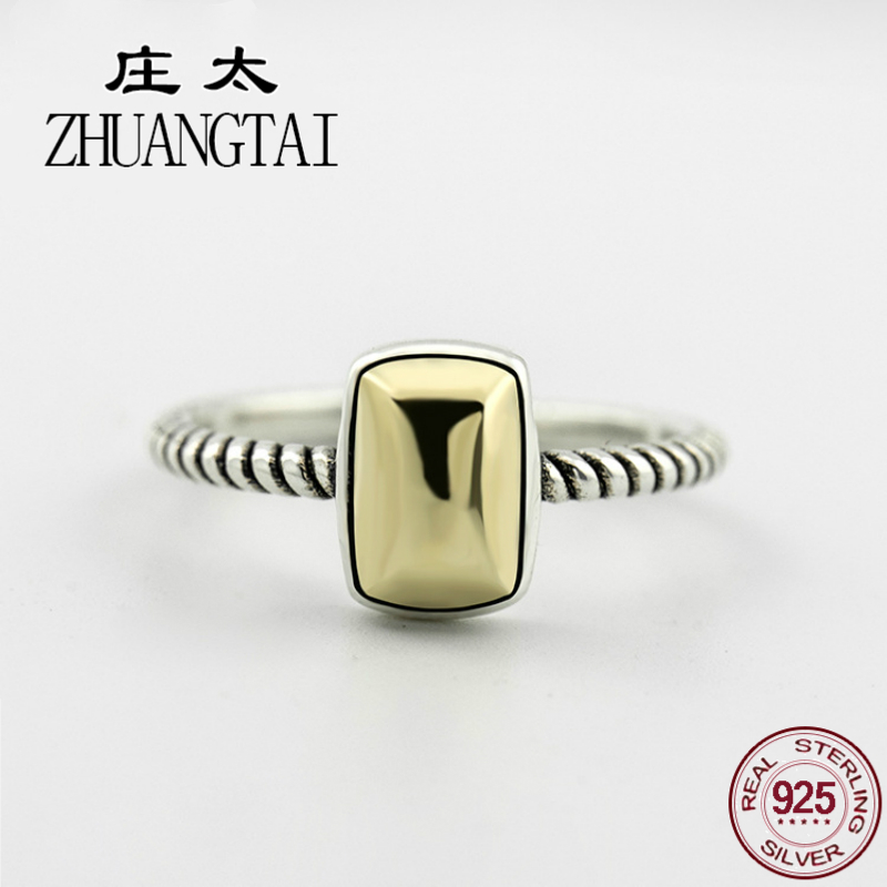 ZHUANGTAI Jewelry Real 925 Sterling Silver Vintage Bague Femme Ring Punk Finger Rings For Women Hand Anillos Mujer Favourite