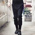 Fanzhuan primavera hombres Libres del Envío masculina hombre moda casual 2017 Nuevo Lápiz pantalones sueltos 711012 pantalones negros Bajo Cruz pantalones