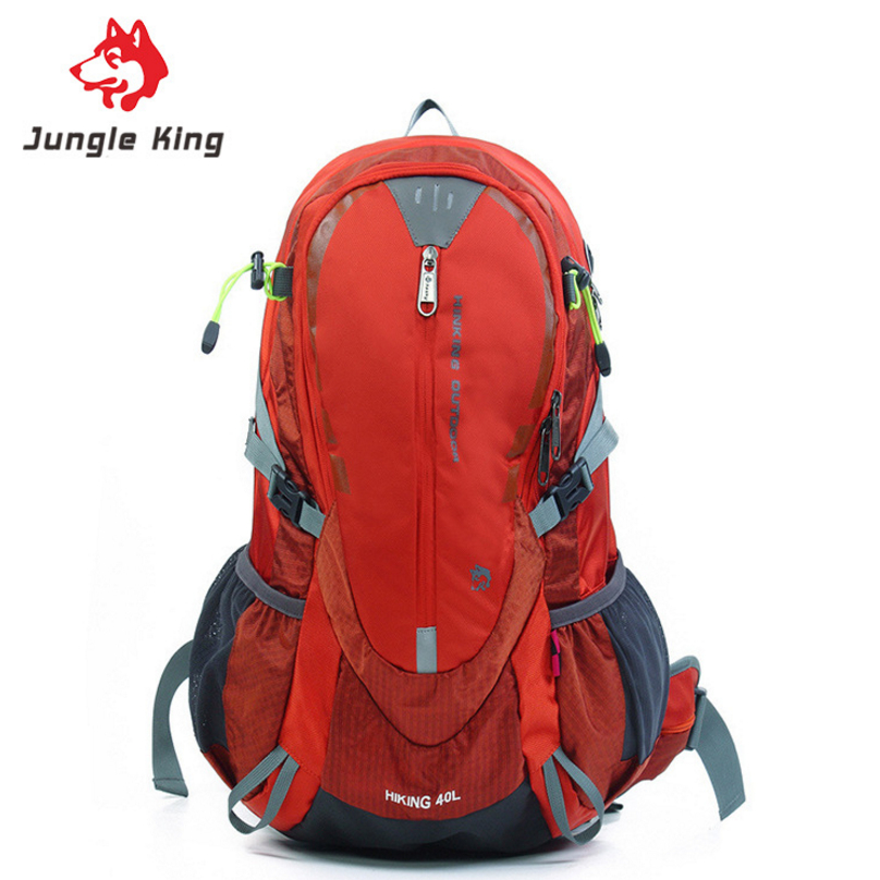 JUNGLE KING men and women outdoor backpack Oxford high quality climbing bags 40L waterproof nylon camping hiking sports bags стоимость