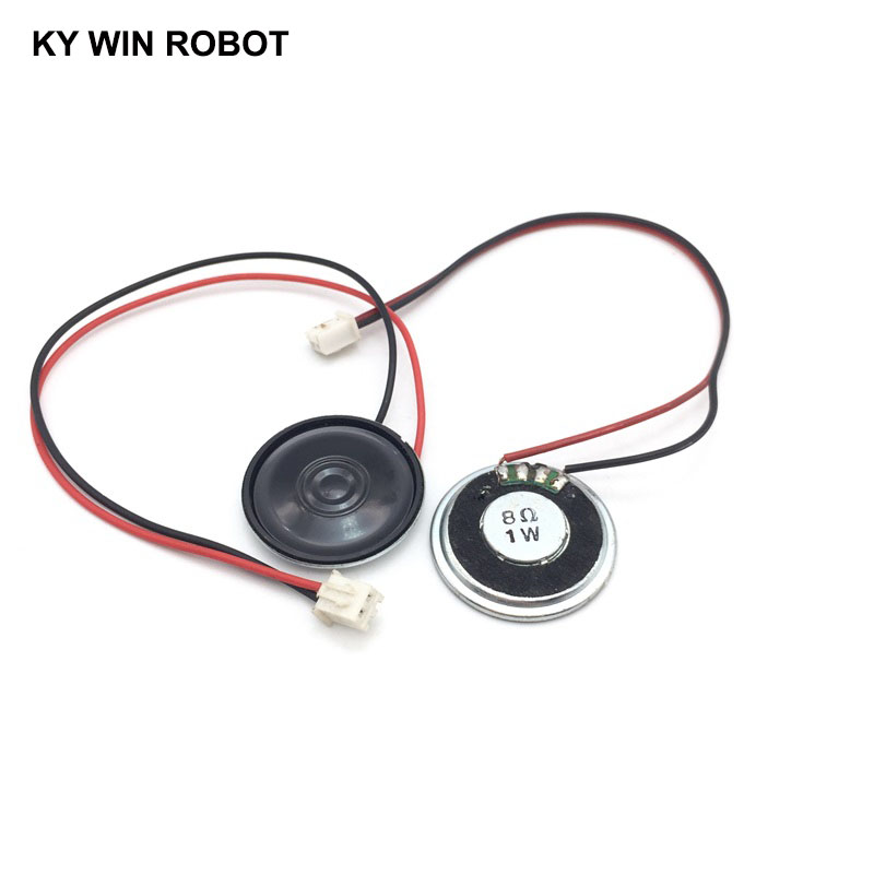 2pcs/lot New Ultra-thin <font><b>speaker</b></font> <font><b>8</b></font> <font><b>ohms</b></font> 1 watt <font><b>1W</b></font> 8R <font><b>speaker</b></font> Diameter 30MM 3CM thickness 5MM with PH2.54 terminal wire length 20C image