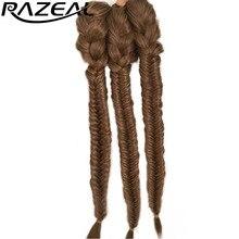 """20 """"50 см женщин синтетические длинные прямые парики Косы клип в на хвост Расширение razeal 130 г"""