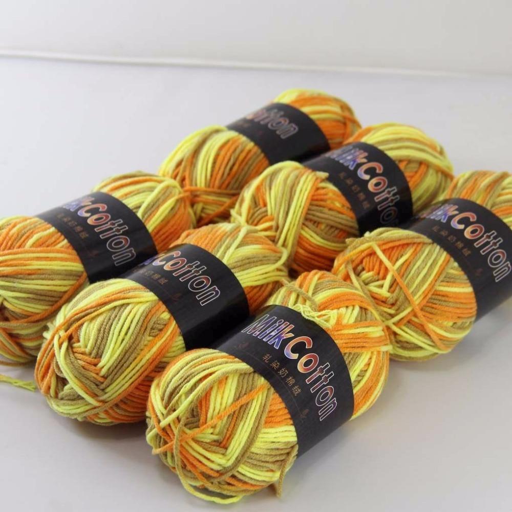 Sale 6ballsx50g Soft Cotton Baby Yarn New Hand Dyed Wool