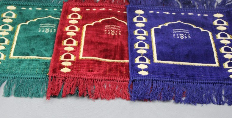 New Child Small Islamic Muslim Prayer Mat Salat Musallah Prayer Rug Tapis Carpet Tapete Banheiro Islamic Praying 32*32cm