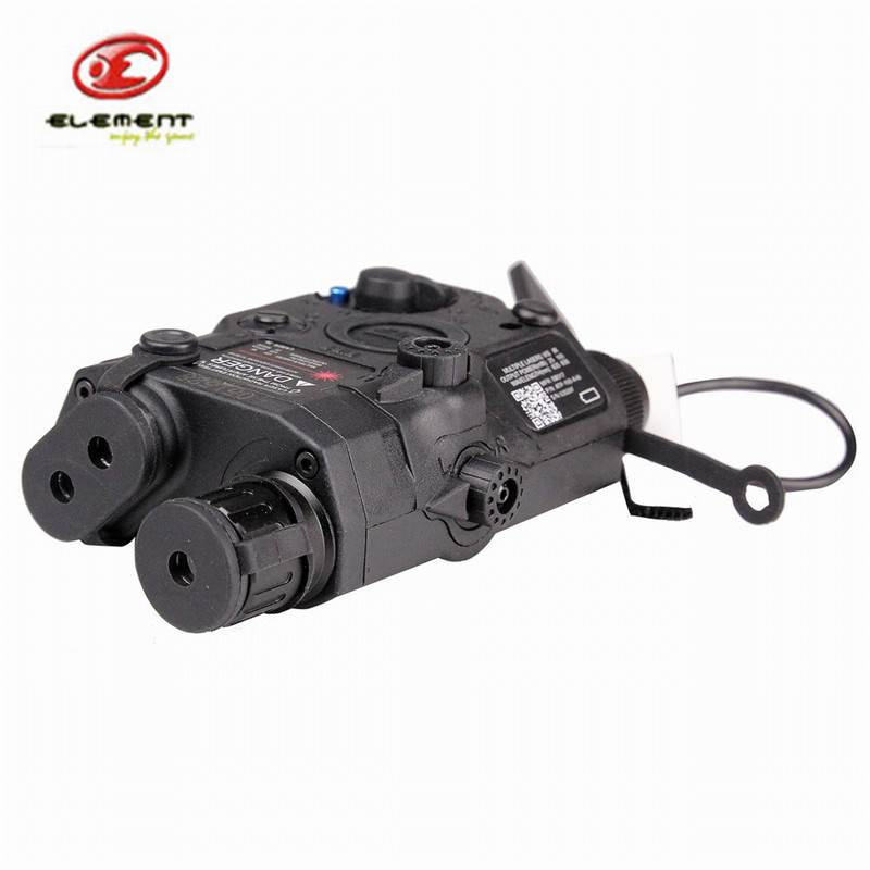 Element EX396 LA-5 Battery Case with Red Laser LED Flashlight Hunting Accessory Airsoft Laser for Shooting Games