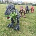 Jurassic dinossauro elétrico do mundo, Caminhada de brinquedo dos desenhos animados modelo boneca de plástico brinquedos interativos de dinossauro elétrico