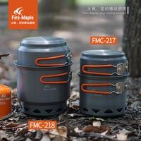 화재 메이플 FMC217/218 2-3 사람들이 야외 휴대용 Engergy 수집 냄비 세트 메쉬 운반 가방