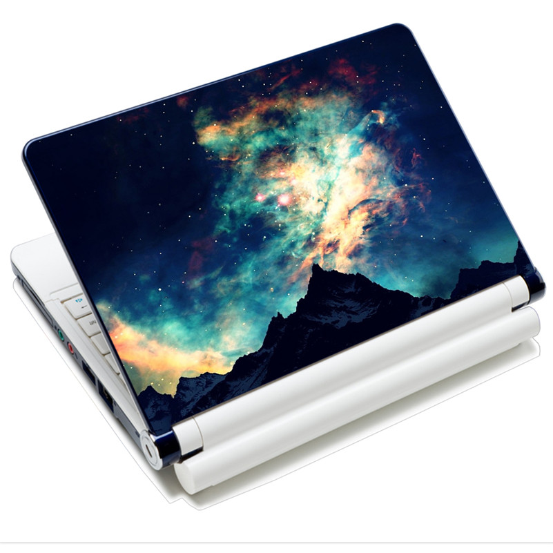 Laptop Skin Decal Sticker Cover PVC Prints Notebook PC Reusable Protector Waterproof For 12-15.6 HP Dell Macbook Nice Galaxy