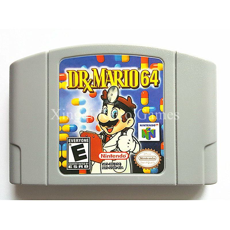Nintendo N64 Game DR Mario 64 Video Game Cartridge Console Card English Language US Version