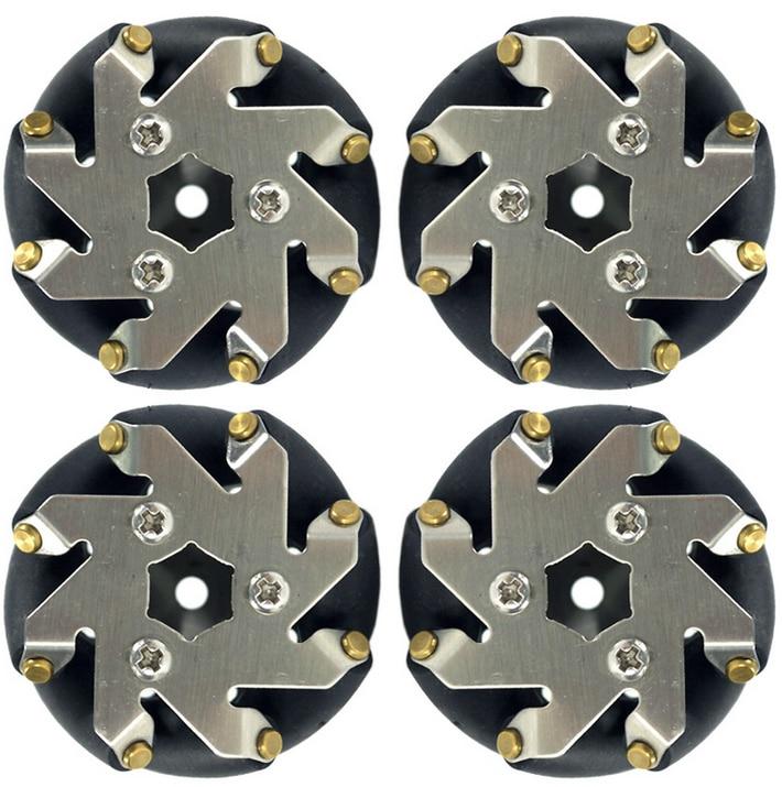 A Group of 48 Mm Mecanum Wheel 4 Aluminum Wheels 14209 Omnidirectional Wheels 48mm Mecanum Wheel 4 inch 100mm left mecanum wheels online wholesale