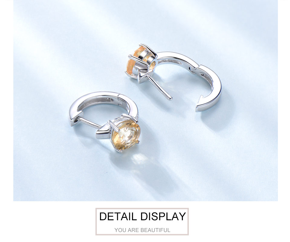 925 sterling silver natural citrine earrings for women (5)