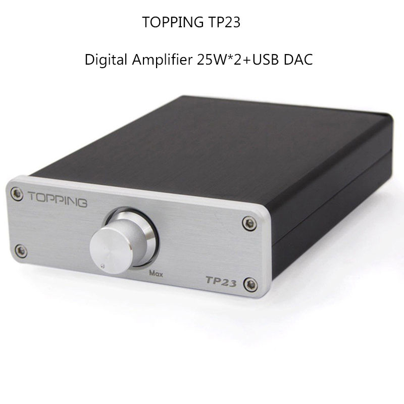 Amplifiers TOPPING TP23 Digital Power Audio Amplifier TA2021B built-in USB PCM2704 DAC Automatic switch Decoder UDA1351TS DC 14V