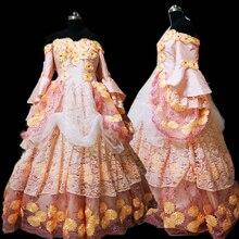 купить New pink Vintage costumes 18th Duchess Retro medieval Renaissance Reenactment Theatre Civil war Victorian dress D-297 дешево