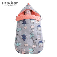 New Baby Stroller Sleeping Bag Winter Warm Sleepsacks Newborn Envelope For Kids Pram Wheelchair Stroller Footmuff For Boys Girls