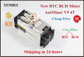 YUNHUI Newest Bitcoin Miner AntMiner V9 4TH/S BTC Miner Asic Miner Better Than Antminer S5 S7 T9+ S9 S9i WhatsMiner M3 Ebit E9