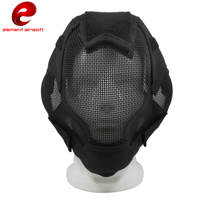 Element Airsoft Tactical Mask Helmet Full-covered Protection Steel Net V6 Steel Net Fencing Mask Ear Cover Protective Mask CY320 ear protective terminator full face mask airsoft paintball mask halloween protective cs wargame field game cosplay movie prop
