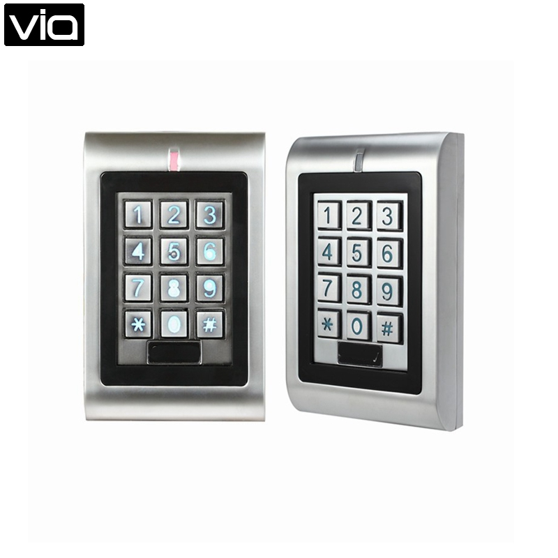 SK1-R Free Shipping 9-18V 125KHz EM Card RFID Waterproof Wiegand Output EM Metal Keypad Reader Long Reading Range metal rfid em card reader ip68 waterproof metal standalone door lock access control system with keypad 2000 card users capacity