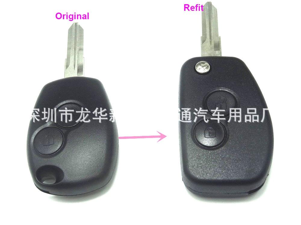 VAC102 Geändert Schlüssel Shell Für Renault Renault Dacia Modus Logan Clio Espace Nissan 2 Taste Flip Folding Remote-Fob Fall