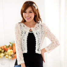 FGLAC New European style women lace shawl Wild wedding shawl Fashion Long women cardigan Elegant women lace jackets