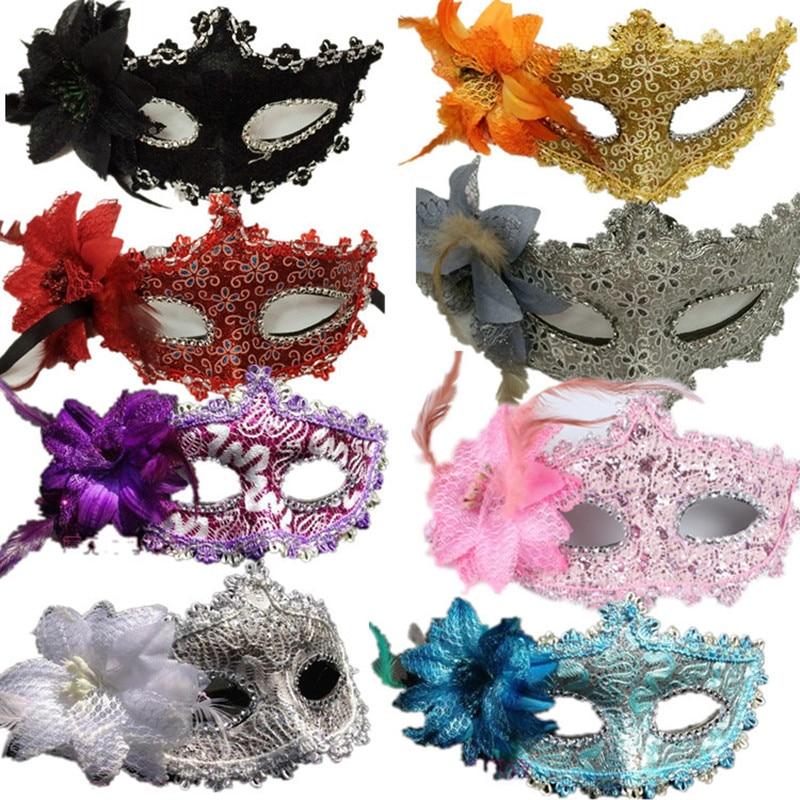 Flower Halloween mask sexy masquerade masks Dance Party Bar Princess Venice Mask High-grade Rose Party Mask Supplies (2)