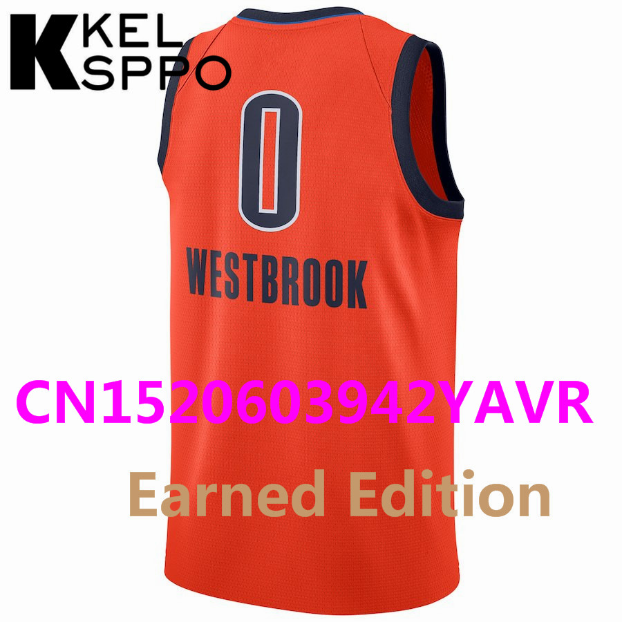 new styles 60cc5 e4aa2 2018/19 City Edition Basketball 0 Russell Westbrook 2 Kawhi Leonard 7 Kyle  Lowry Jersey Basketball Earned Edition Jersey