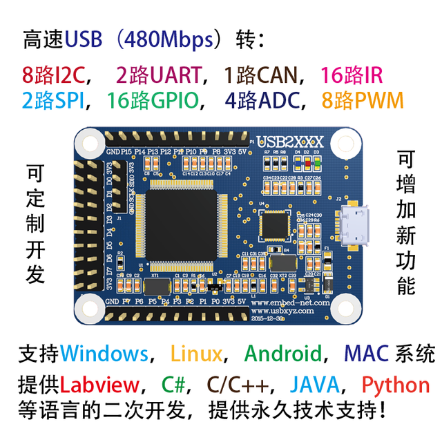 US $100 0 |High Speed USB to SPI I2C PWM ADC GPIO UART CAN I2C/IIC  Monitoring Analysis-in Air Conditioner Parts from Home Appliances on  Aliexpress com