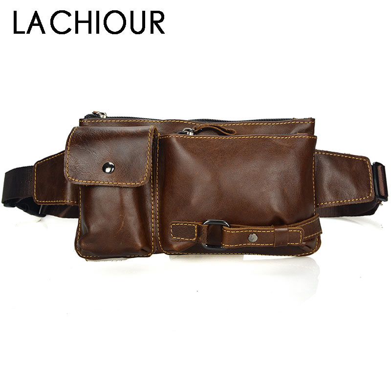 Genuine Leather Waist Packs Fanny Pack Belt Bag Phone Pouch Bags Travel Waist Pack Male Small Waist Bag Leather Pouch цена