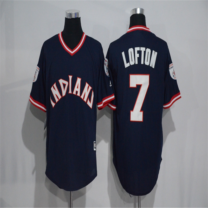 03ddda783 ... Cool Base Jersey Mens 7 Kenny Lofton 99 Ricky vaughn 12 Francisco  Lindor Color black Stitched Throwback Jerseys Womens Authentic Cleveland  Indians No.7 ...