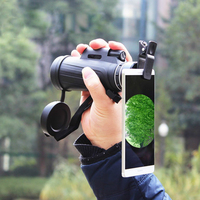 16x52 HD Optical Monocular Low Night Vision Waterproof Telescope Prism BAK4 Pocket Mobile Phone Photo Lens For Outdoor Camping