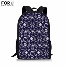 FORUDESIGNS Customize Picture Backpack for Teenager Girls Boy 16 inch Dot&Stripe School Bag Childrens BookBag Student Mochila