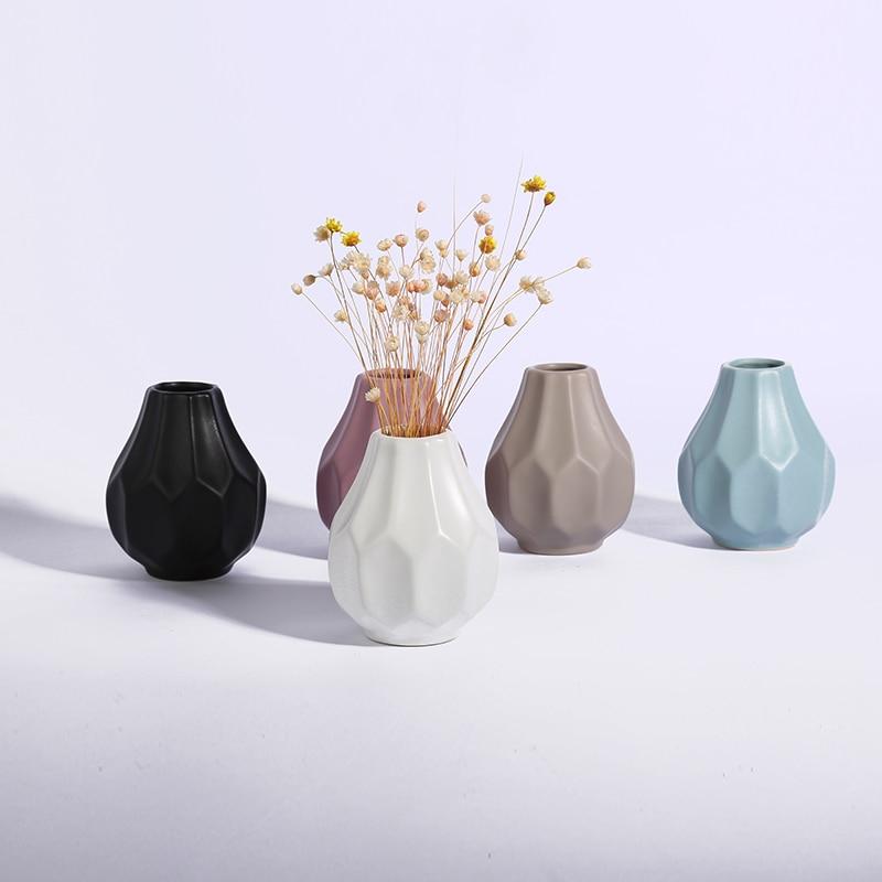 Fresh Mini Ceramic Small Vase Home Decor Gift Ideas And: Ceramic Vase Flower Pots Planter Matt Porcelain Vase Home