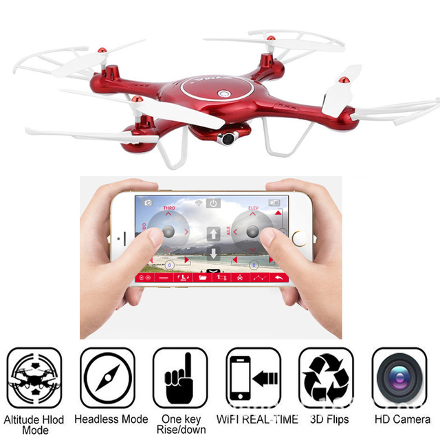 Syma X5UW Drone with WiFi Camera HD 720P Real-time Transmission FPV Quadcopter 2.4G 4CH 6 axis gyro RC Helicopter Quadrocopter