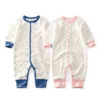 Cutelee Newborn Soft Cotton Baby Romper O Neck Costumes Long Sleeve Baby Girl Boy Rompers Baby