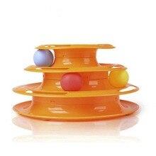 Высокое качество забавная игрушка для кошек игрушки для кошек интеллект тройной игровой диск игрушка для кошек Мячи игрушки для животных зеленый оранжевый